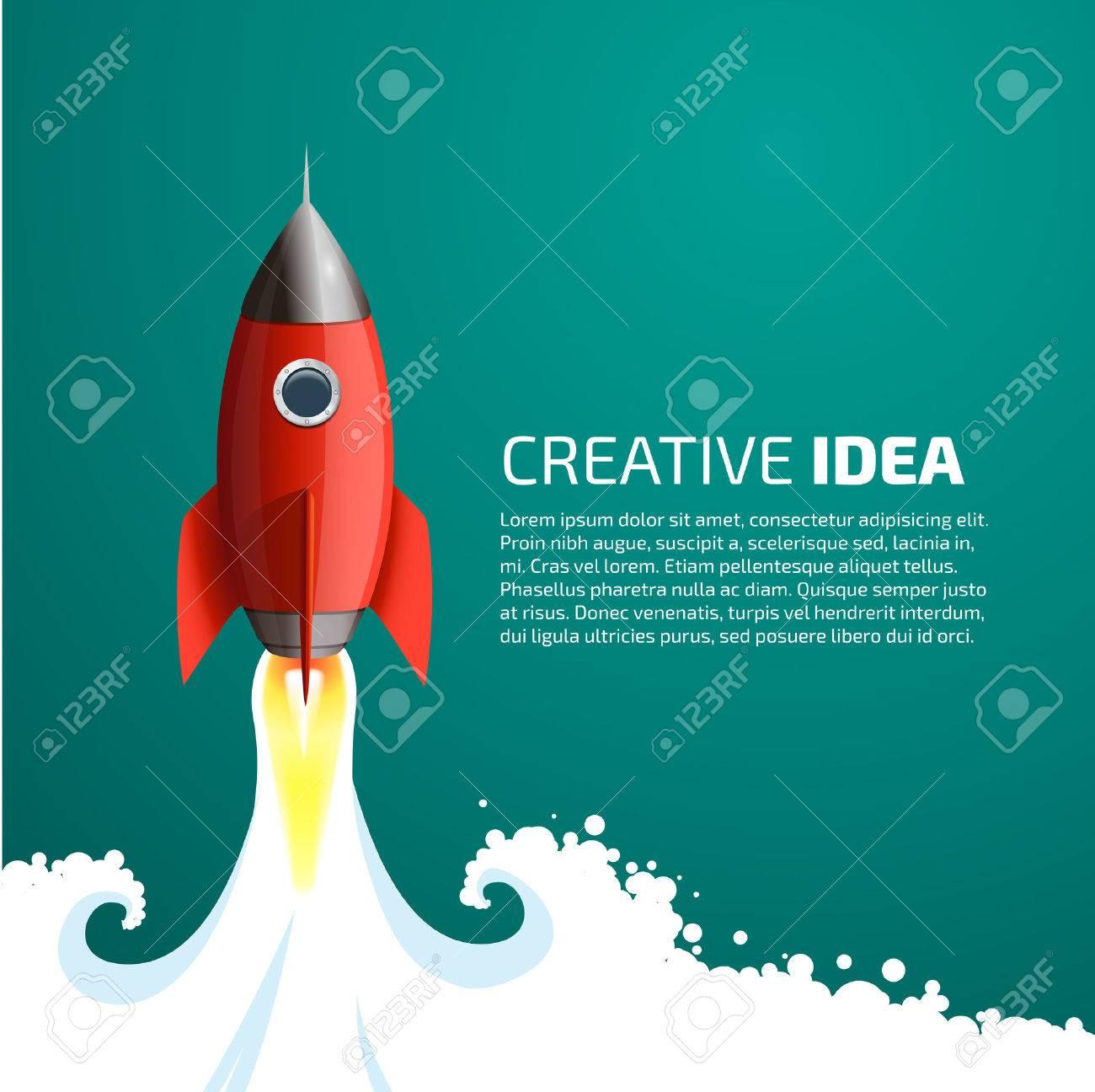 Rocket - creative idea concept - 48445893