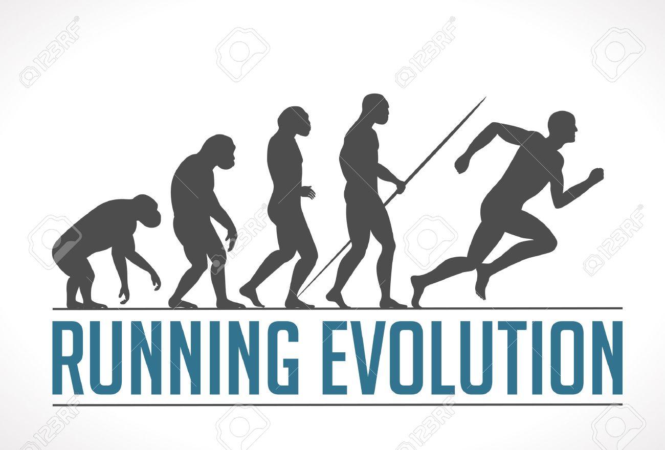 Logo - running evolution - 48539261