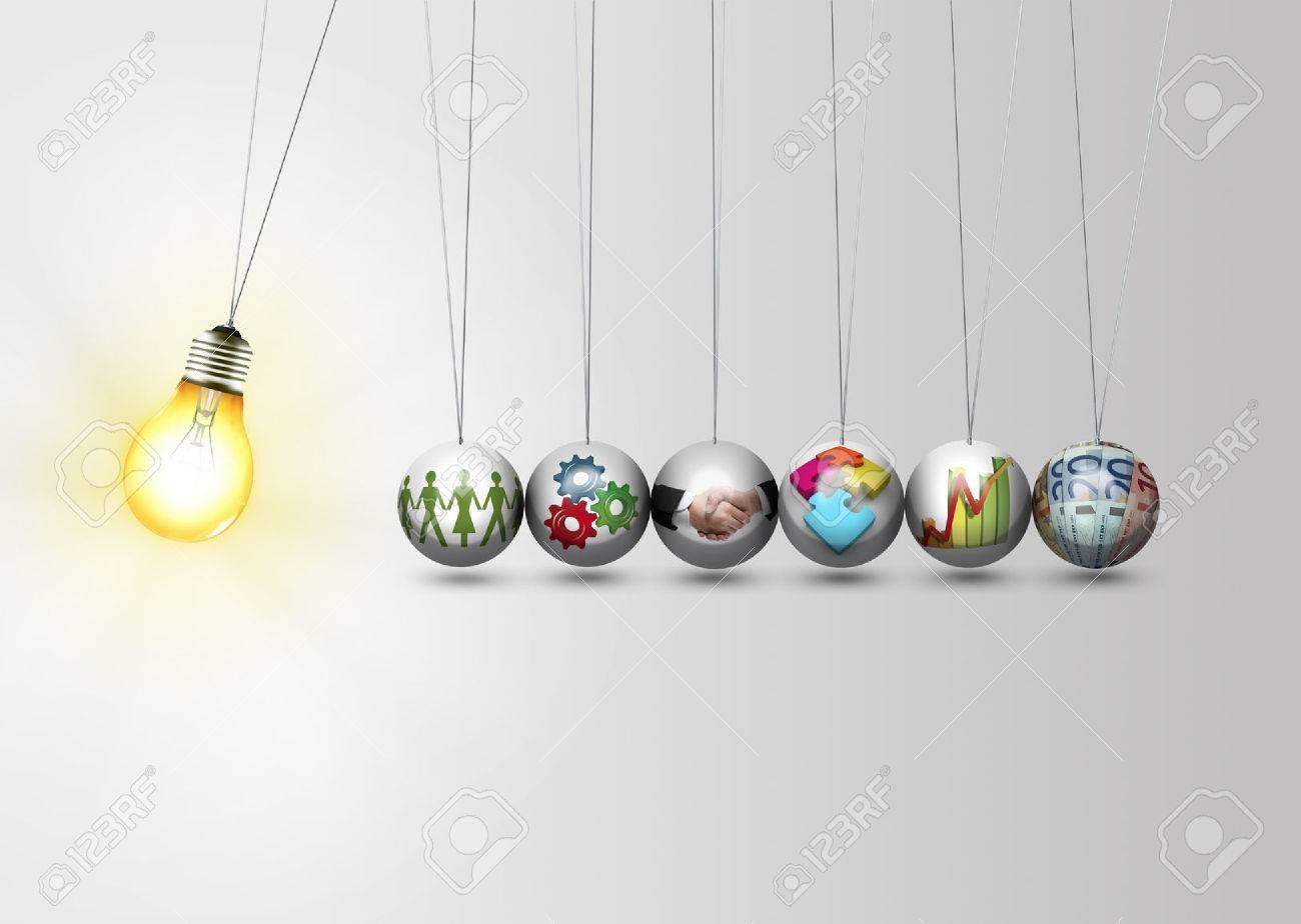 Business idea concept - work together - 48445268