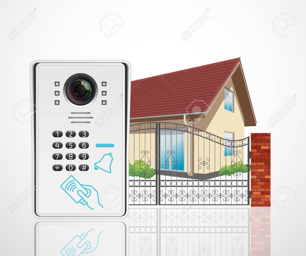 Home access control system - Video door phone - 55519489