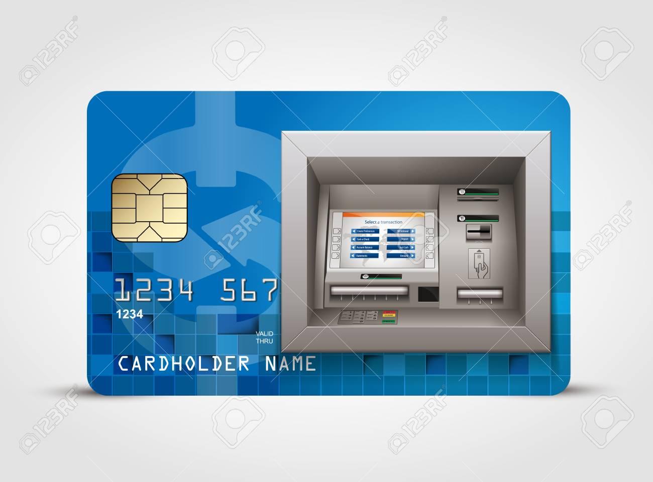 ATM - 現金自動預け払い機 - 現金の概念のイラスト素材・ベクタ ...