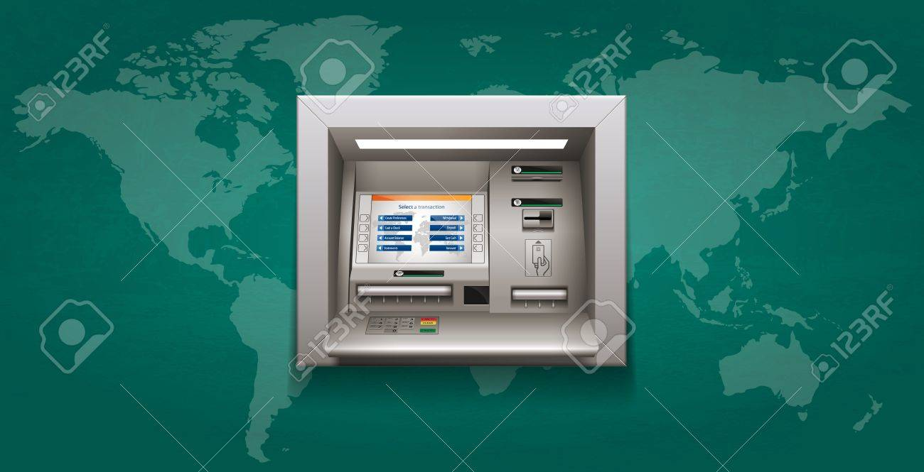 ATM ・現金自動預け払い機のイラスト素材・ベクタ - Image 68278480.