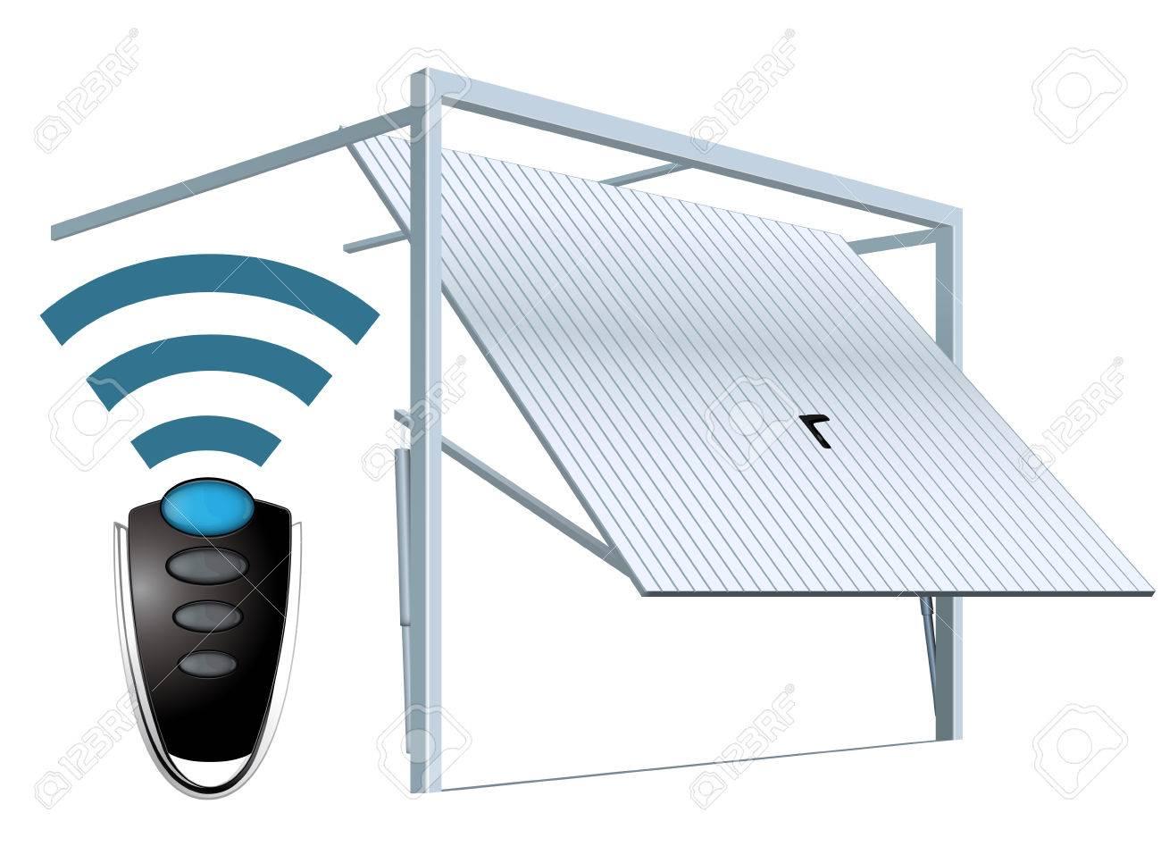 Automatic wireless garage door system - remote open - 77406546