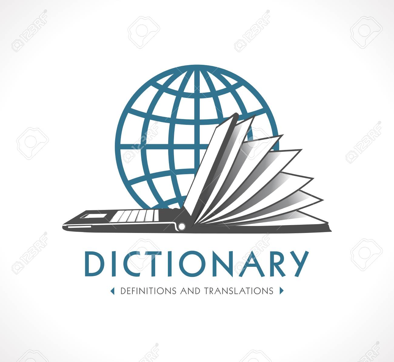 Logo Online Dictionary Concept Laptop As Book Royalty Free