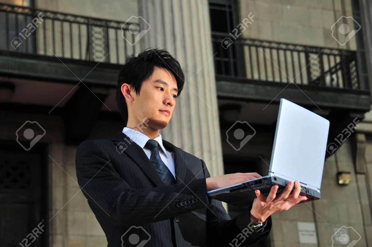 Asian Executive Waiting Stock Photo - 3839184