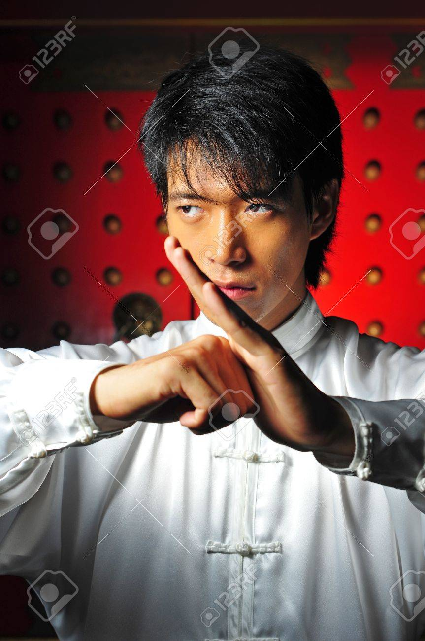 Young Asian Man Training Martial Arts Stock Photo - 5221466