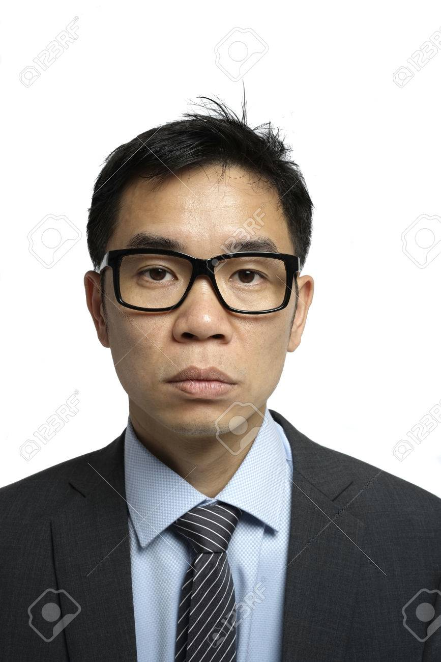 Asian man with glasses