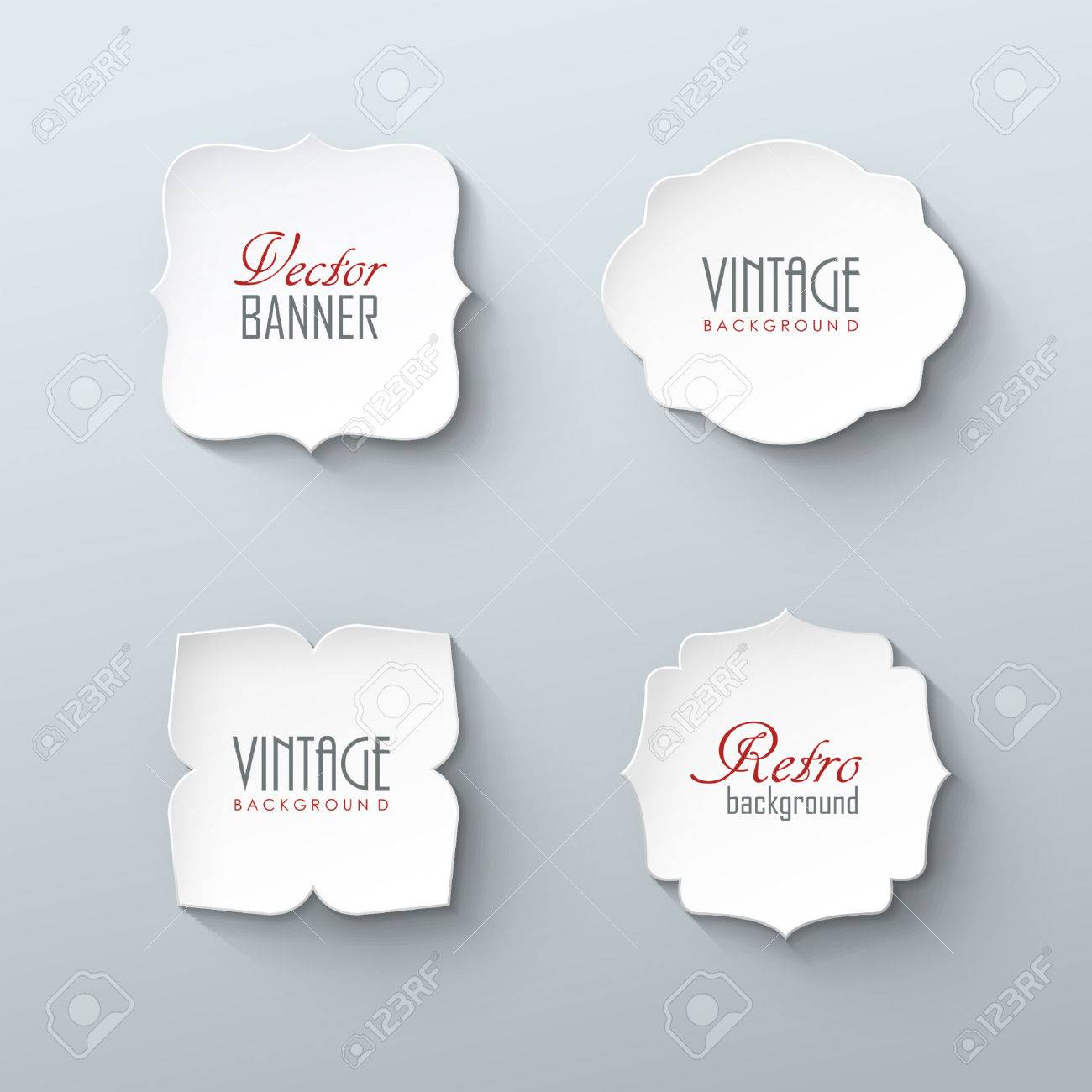 Set of paper labels in vintage style Stock Vector - 48062161