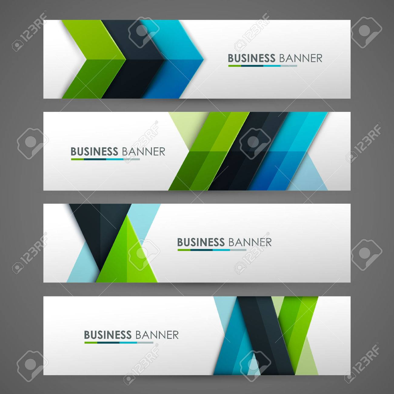 Set of banner templates. Bright modern abstract design. - 55196941