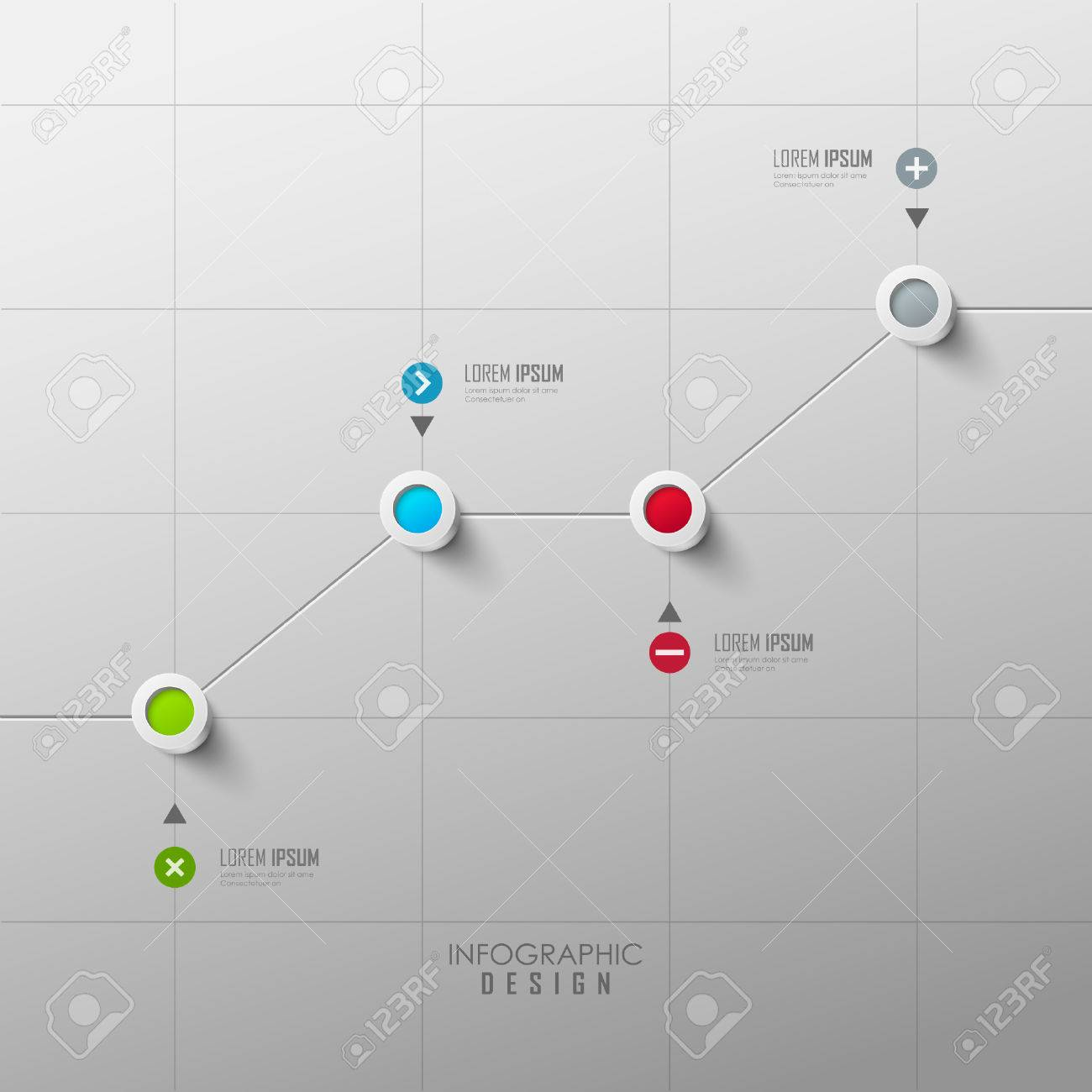 Vector infographic timeline design - 54603129