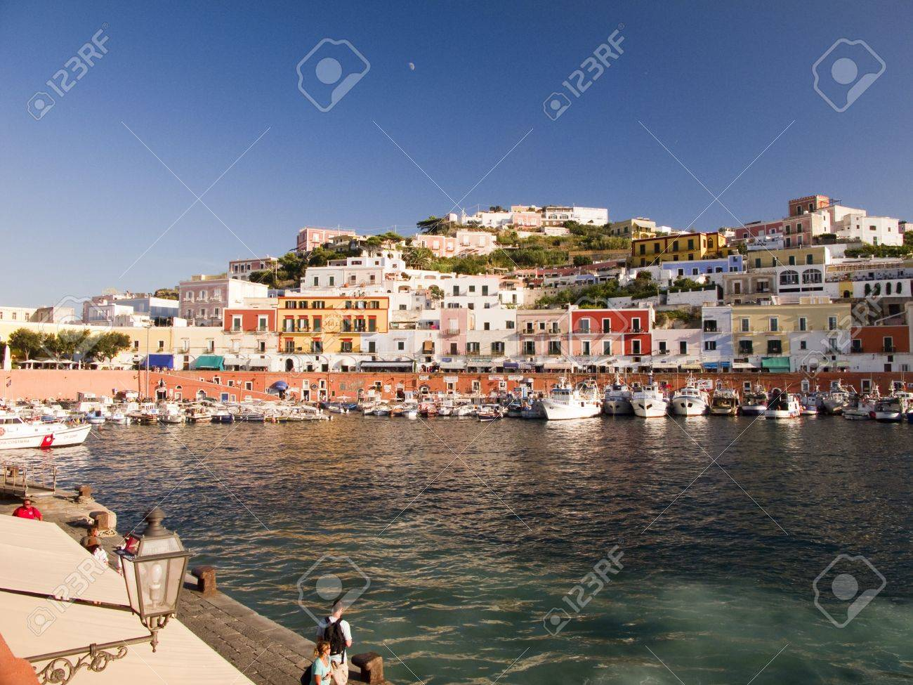 Main port and harbor.  Architecture and colored houses along a mountain Stock Photo - 11688624