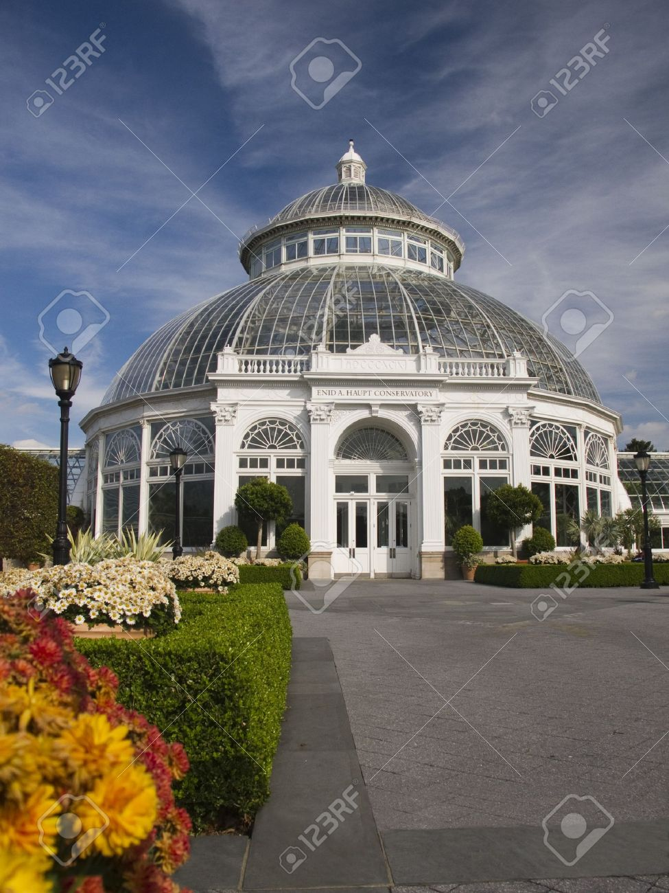 The Enid A. Haupt Conservatory At The New York Botanical Garden In The Bronx  Stock