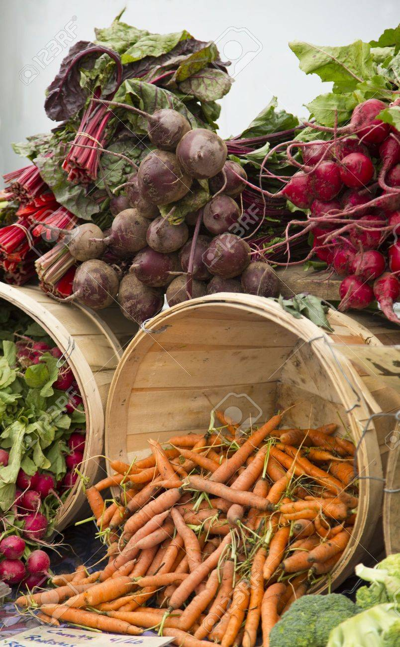 Colorful organic produce at the Farmer Stock Photo - 15982942