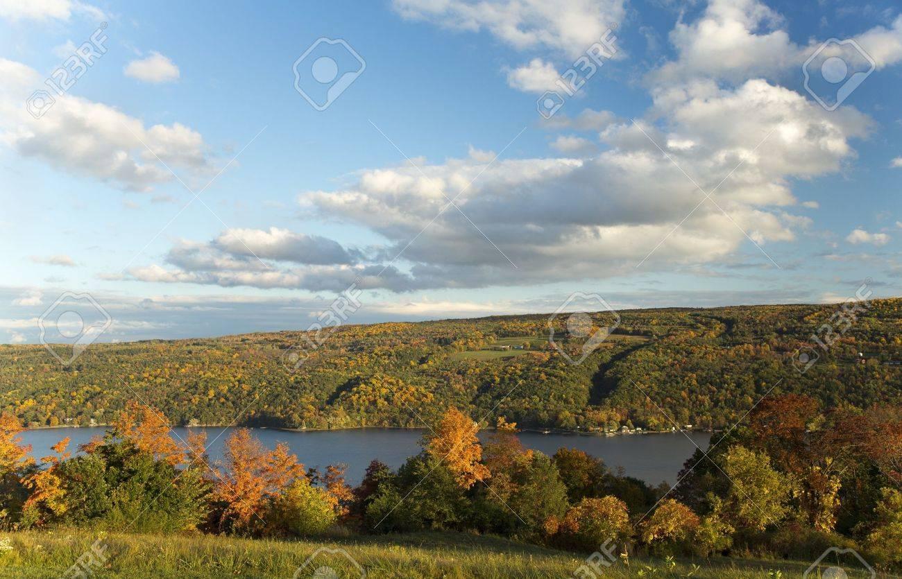 Autumn Landscape Scene  Keuka Lake, Finger Lakes Region in New York Stock Photo - 16308881