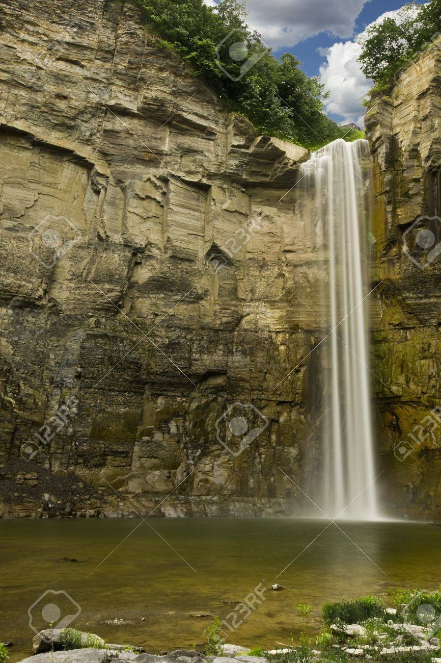 Time Lapse Waterfall in a Gorge  soft motion blur Stock Photo - 20227703