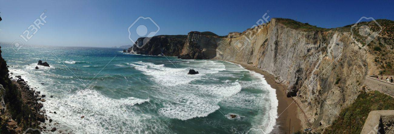 Panoramic view of Chiaia di Luna beach. Ponza, Italy Stock Photo - 29771502