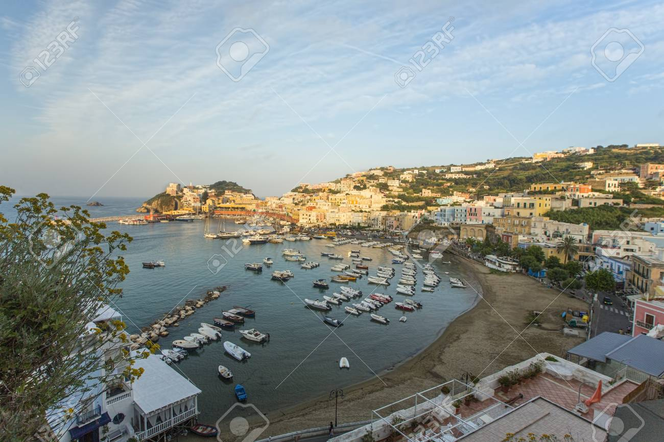 Aerial View of the Main Port of Ponza, Italy Stock Photo - 32459434