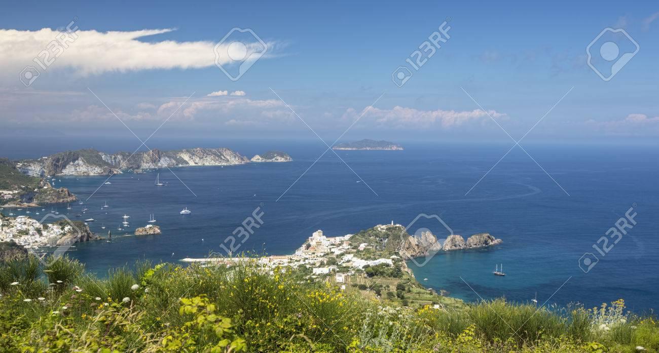 Aerial Panoramic of Ponza Italy Stock Photo - 32937551