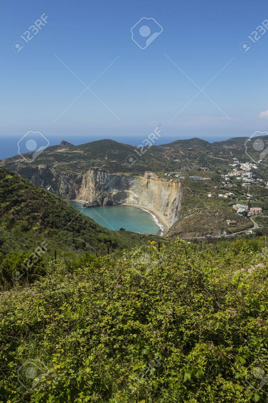 Aerial View of Mediterranean Island Coastline (Ponza, Italy) Stock Photo - 32987968