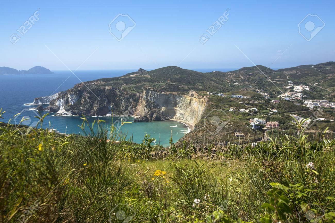 Panorama View of Mediterranean Island Coastline (Ponza, Italy) Stock Photo - 32987973