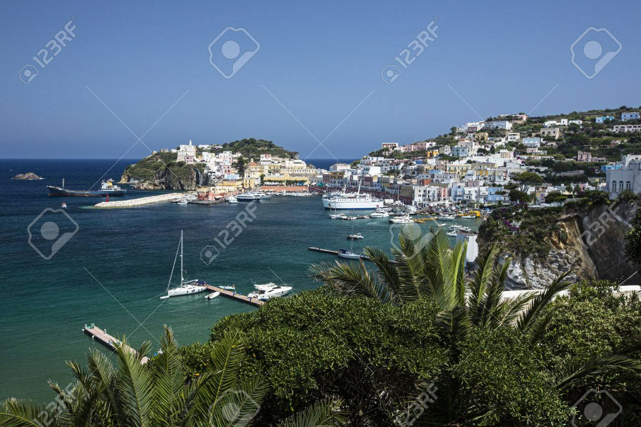 Aerial View of the Main Port of Ponza, Italy Stock Photo - 33926160