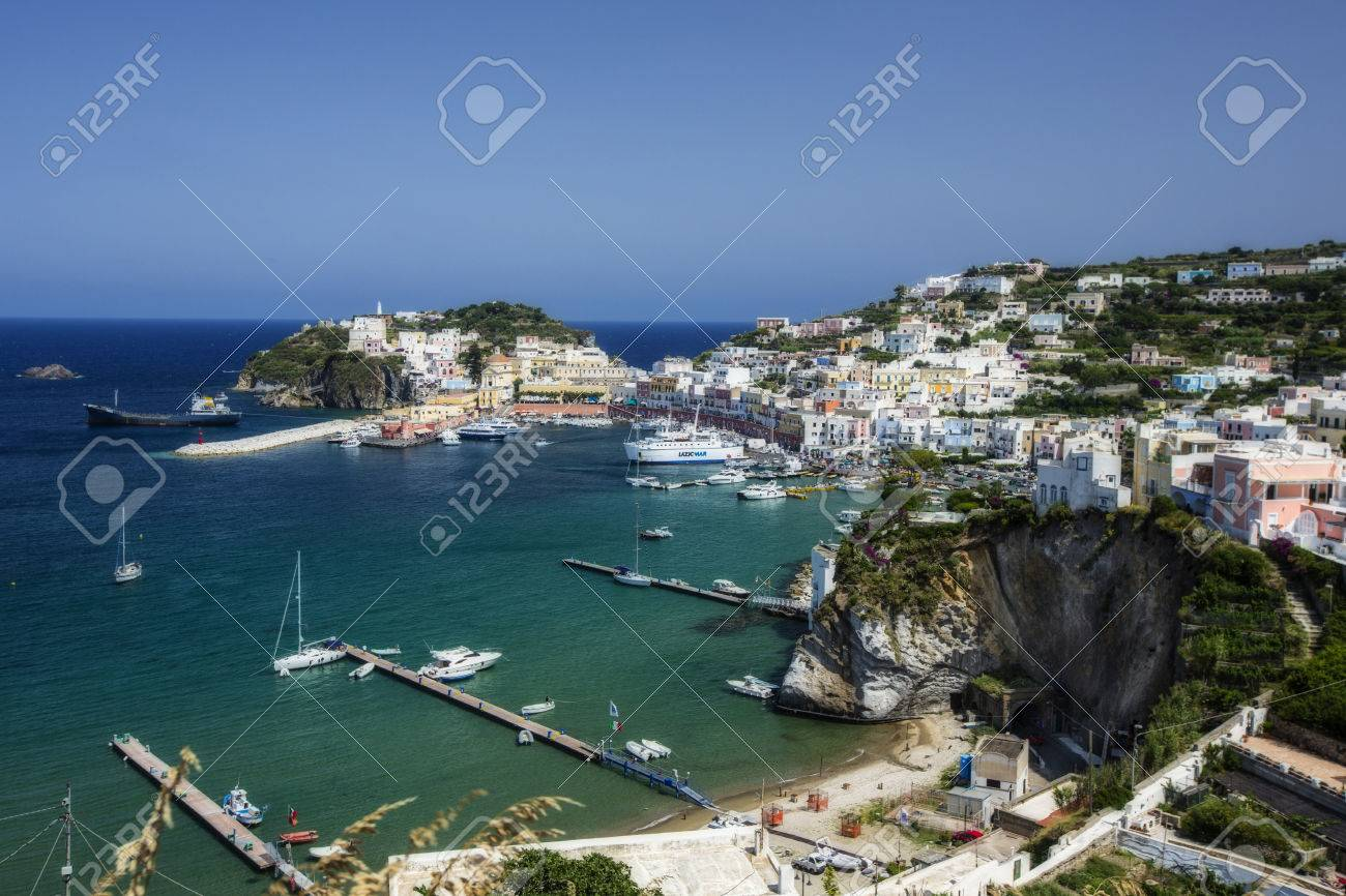Aerial View of the Main Port of Ponza, Italy Stock Photo - 33926162