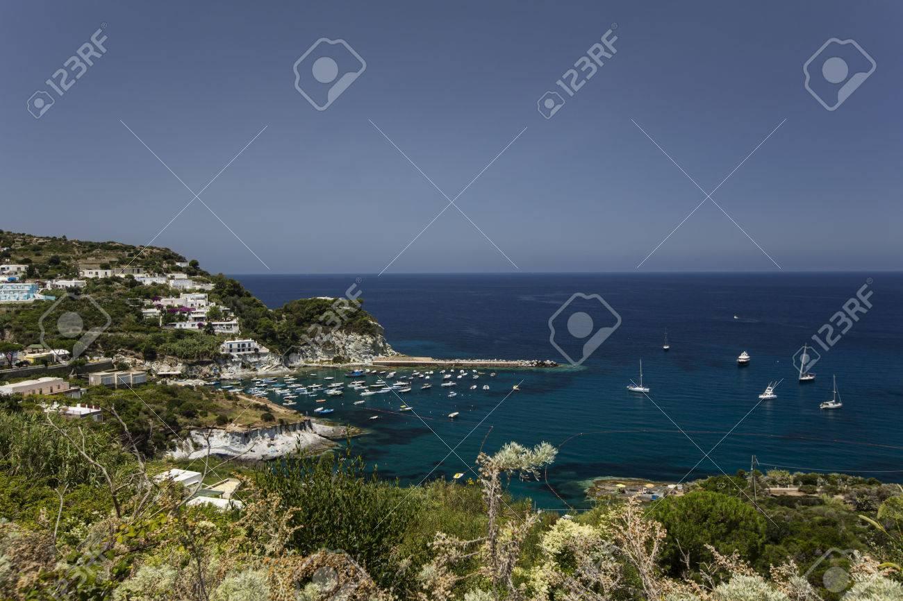 Panorama View of Mediterranean Island Coastline (Ponza, Italy) Stock Photo - 34124815
