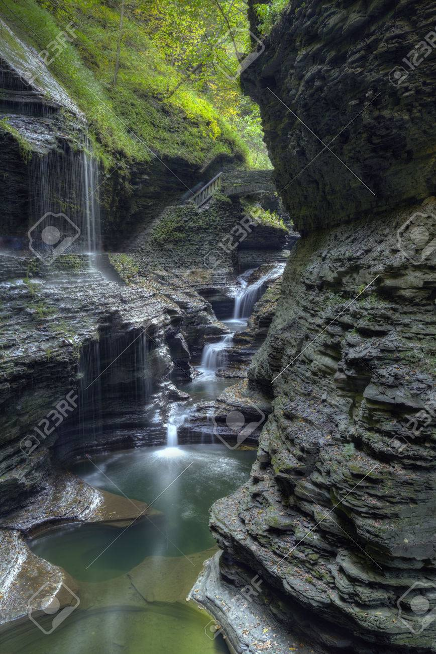 The Gorges at Watkins Glen State Park in New York Stock Photo - 34780685