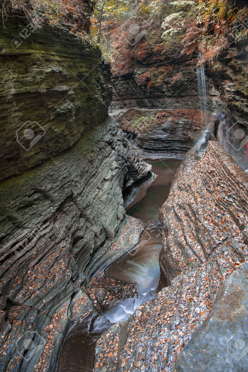 The Gorges at Watkins Glen State Park in New York Stock Photo - 34944700