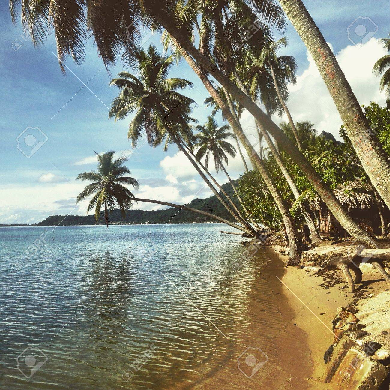 Matira Beach in Bora Bora. French Polynesia Stock Photo - 44383021