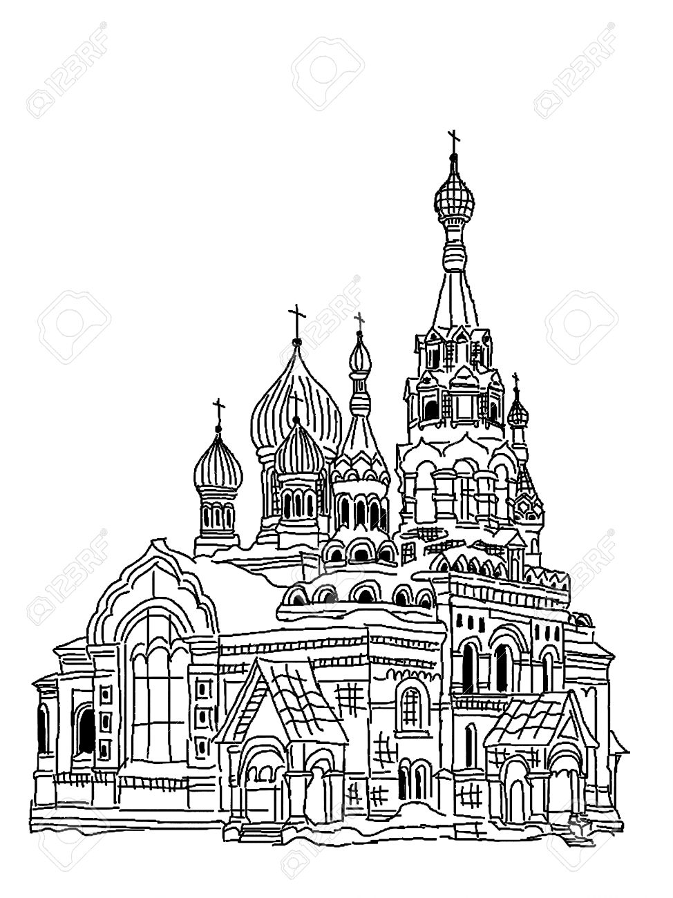 Sketch Of Church Stock Photo, Picture And Royalty Free Image. Image ...
