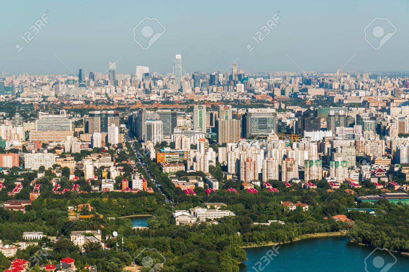 北京市の空撮 ロイヤリティーフ...