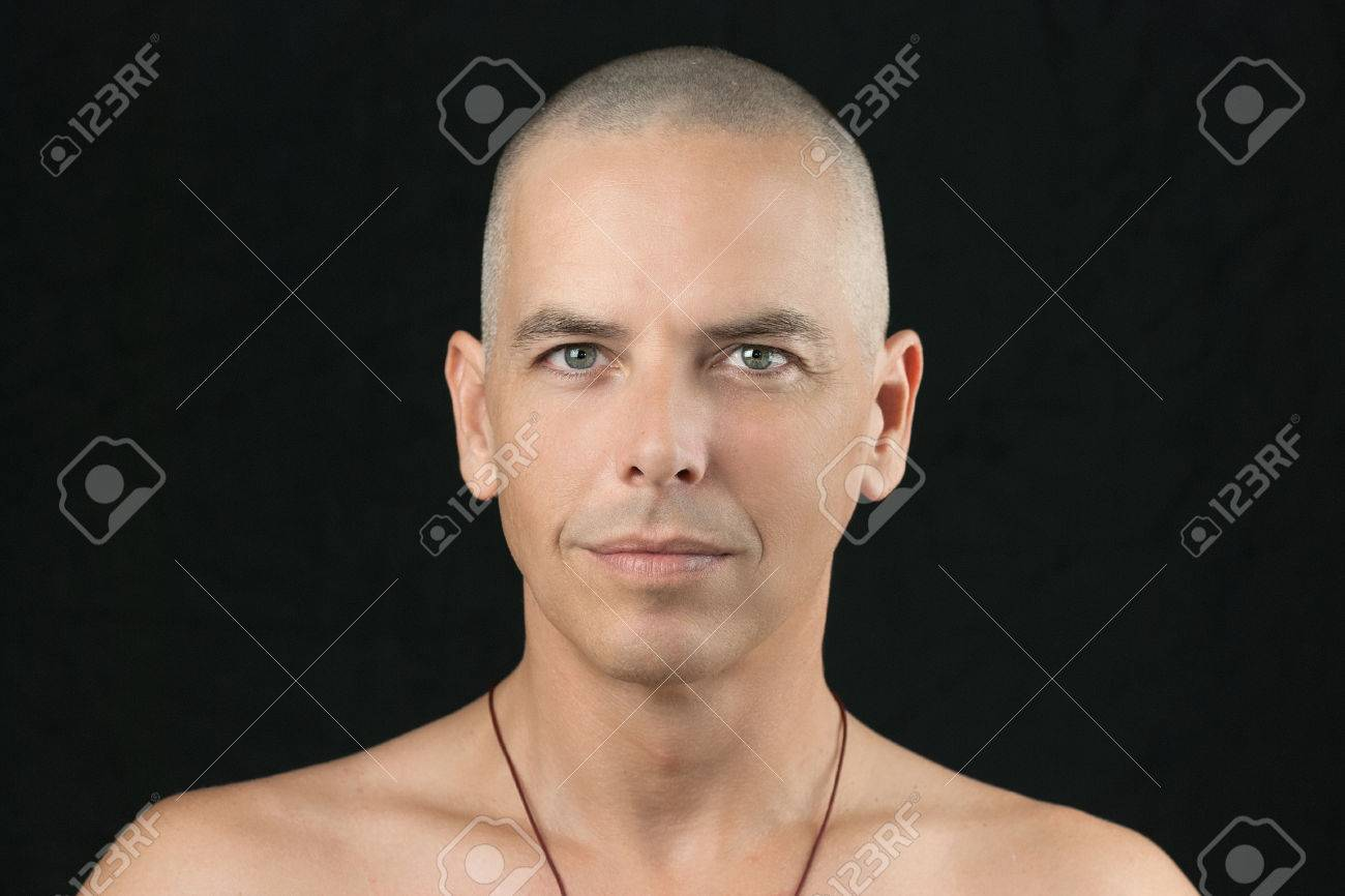 Close shaved head