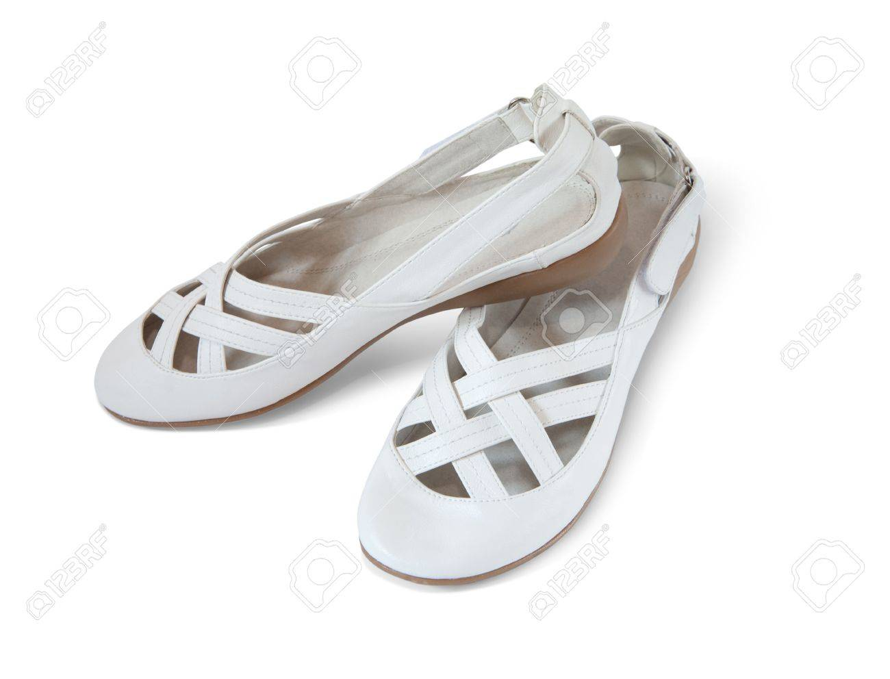 White woman shoes Stock Photo - 5425584
