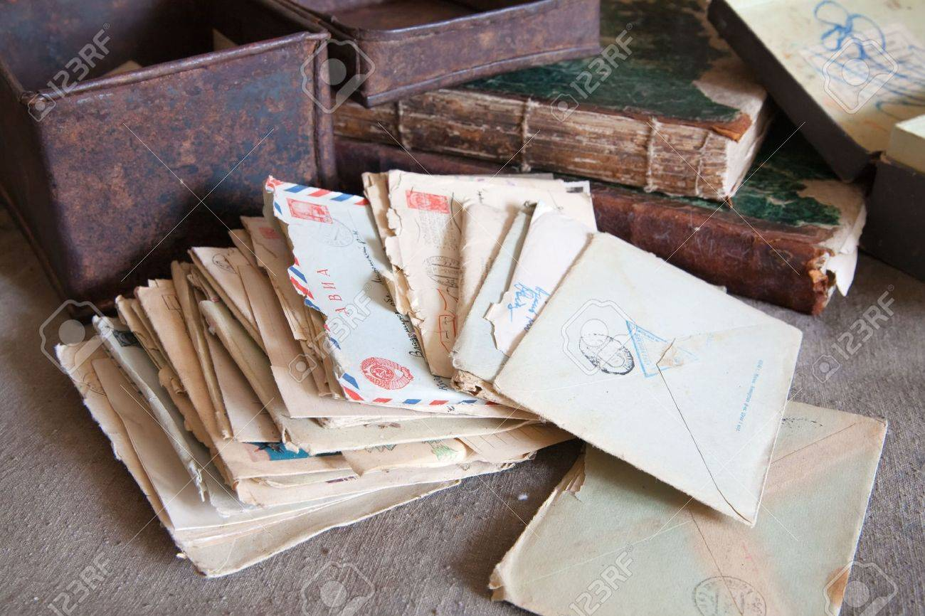 few vintage letters from an old box Stock Photo - 5553066