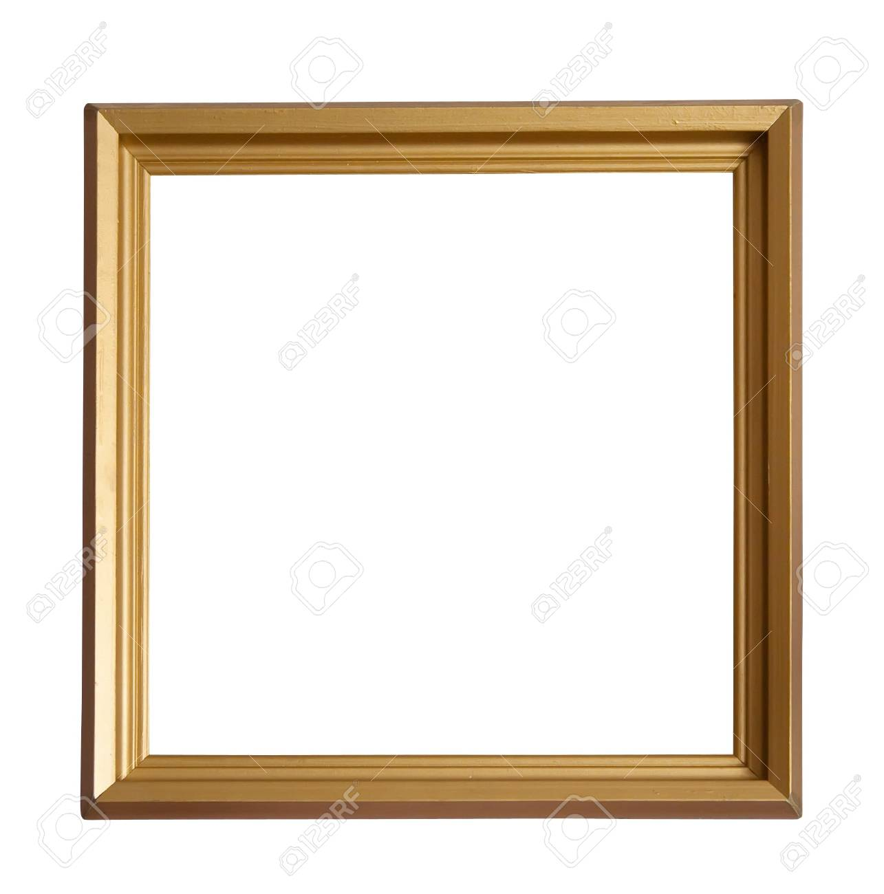 Modern gold picture frame, isolated Stock Photo - 6498702