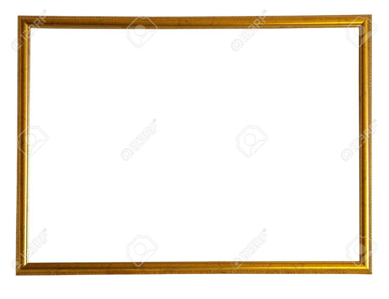 Modern thin gold picture frame Stock Photo - 6601097