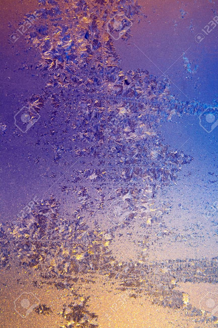 frosty natural pattern on winter window Stock Photo - 7532093