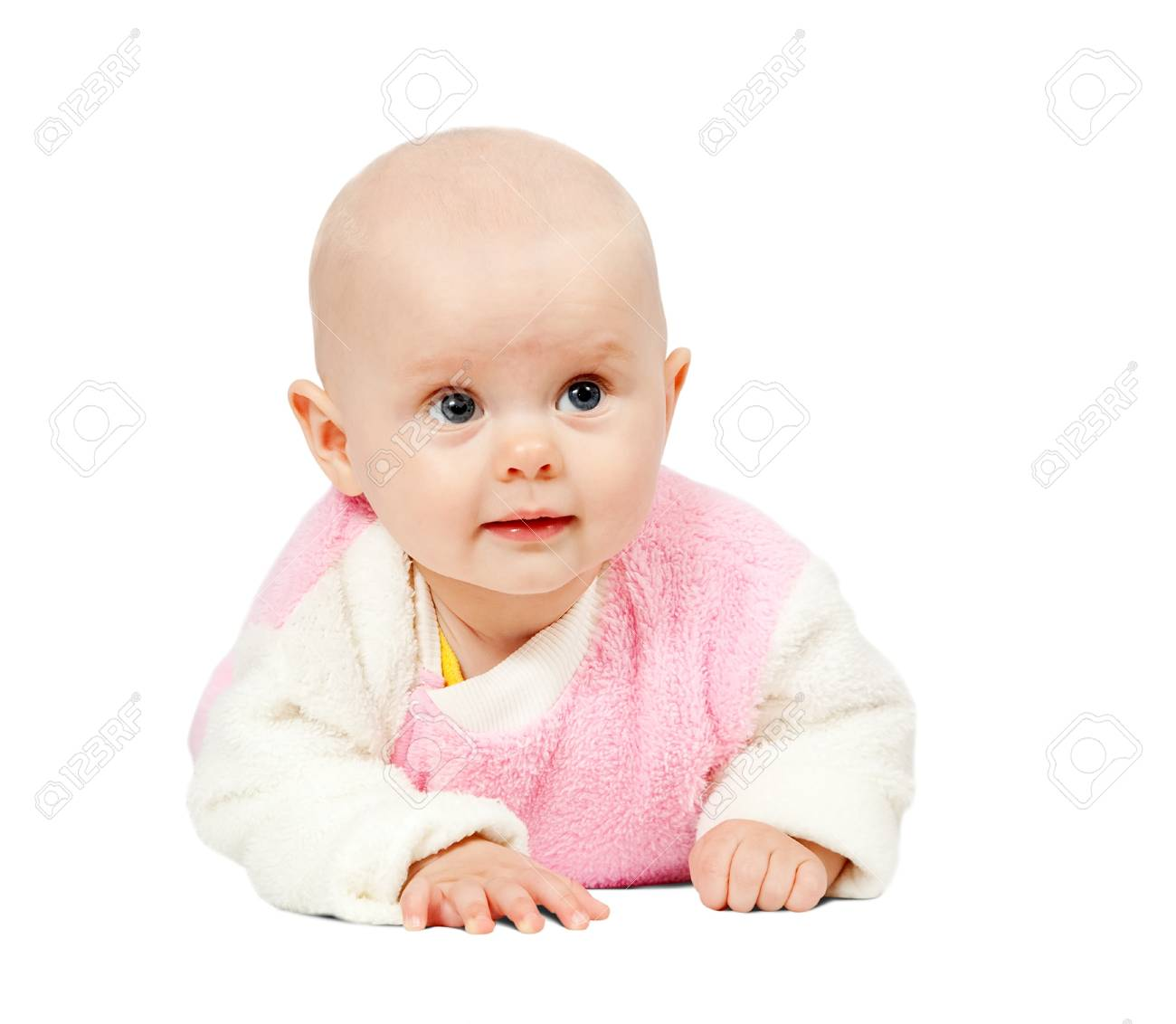 adorable little baby, isolated on white background Stock Photo - 7644646