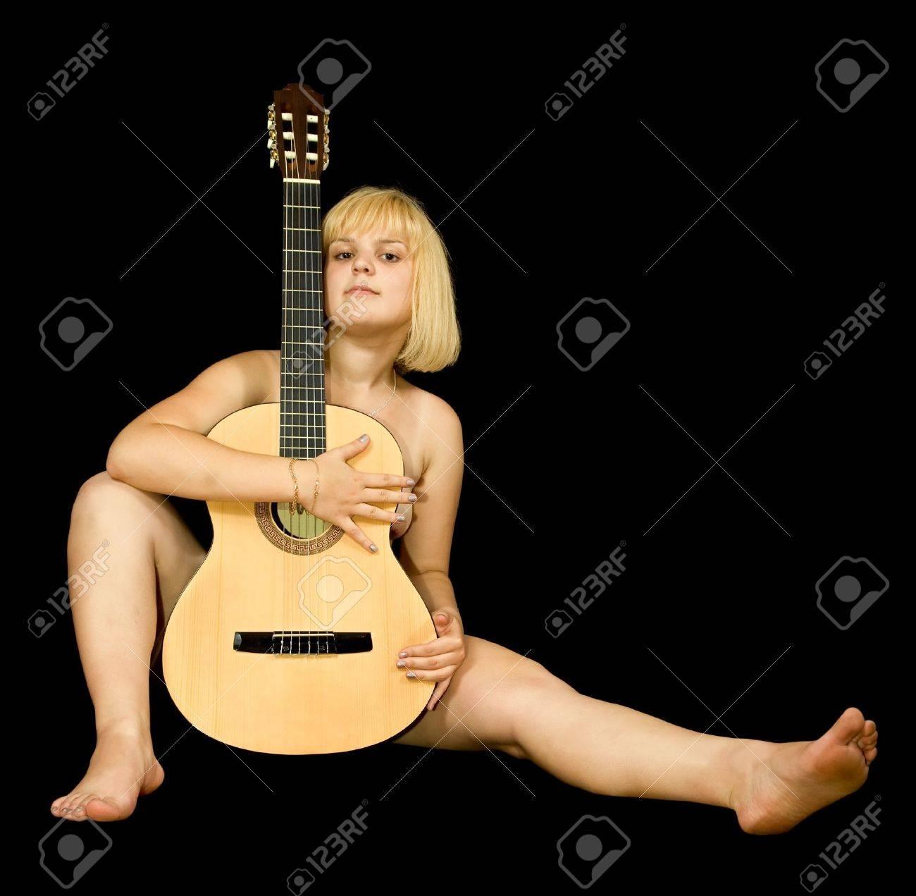 Sexy girls playing guitar