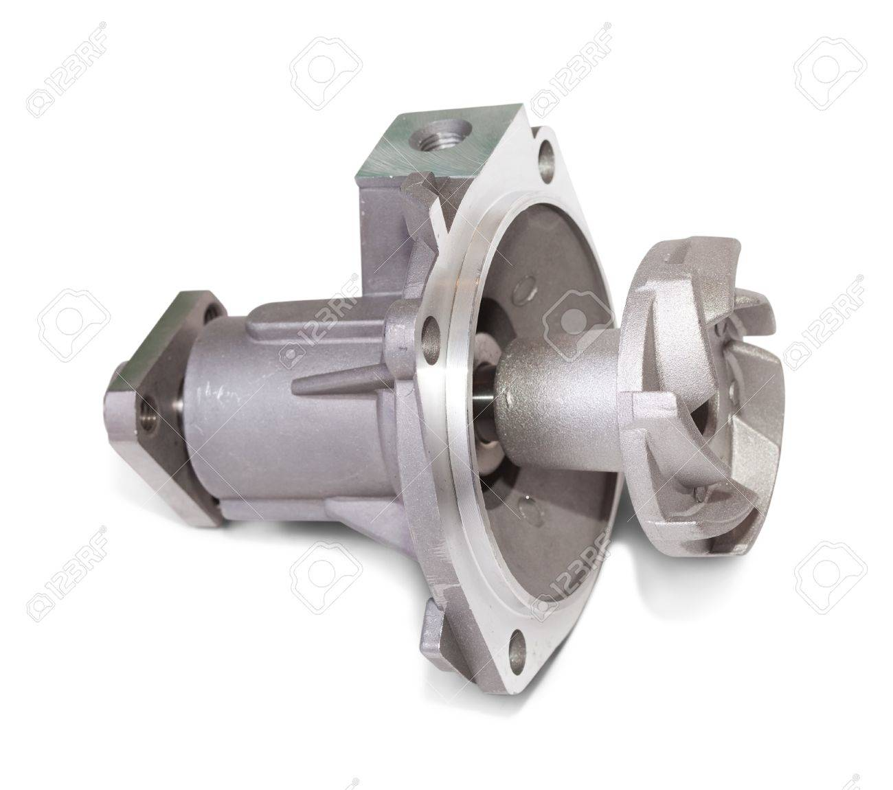 automotive water pump. Isolated on white with clipping path Stock Photo - 8383279