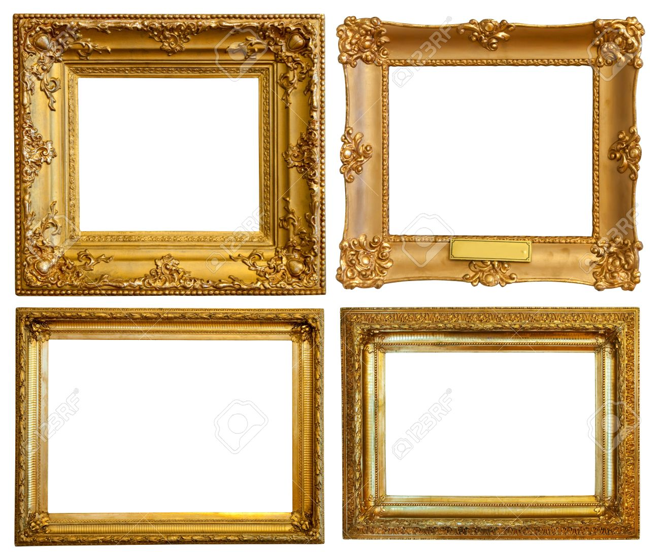 set of few luxury gilded frames stock photo 8996355