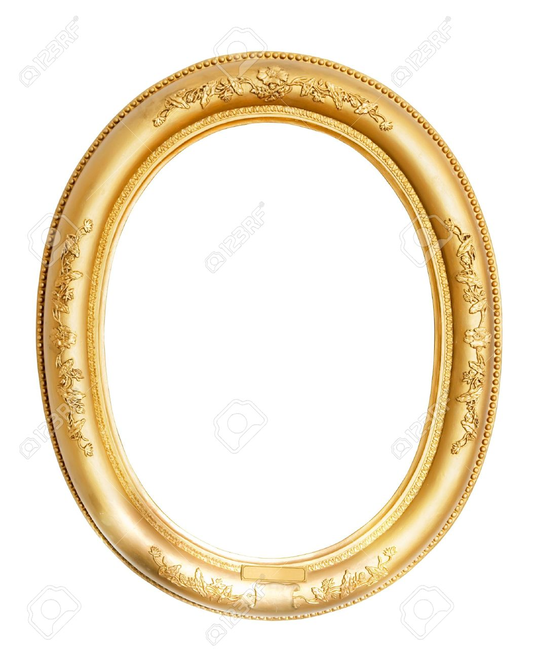 oval gold frame Stock Photo - 8996656