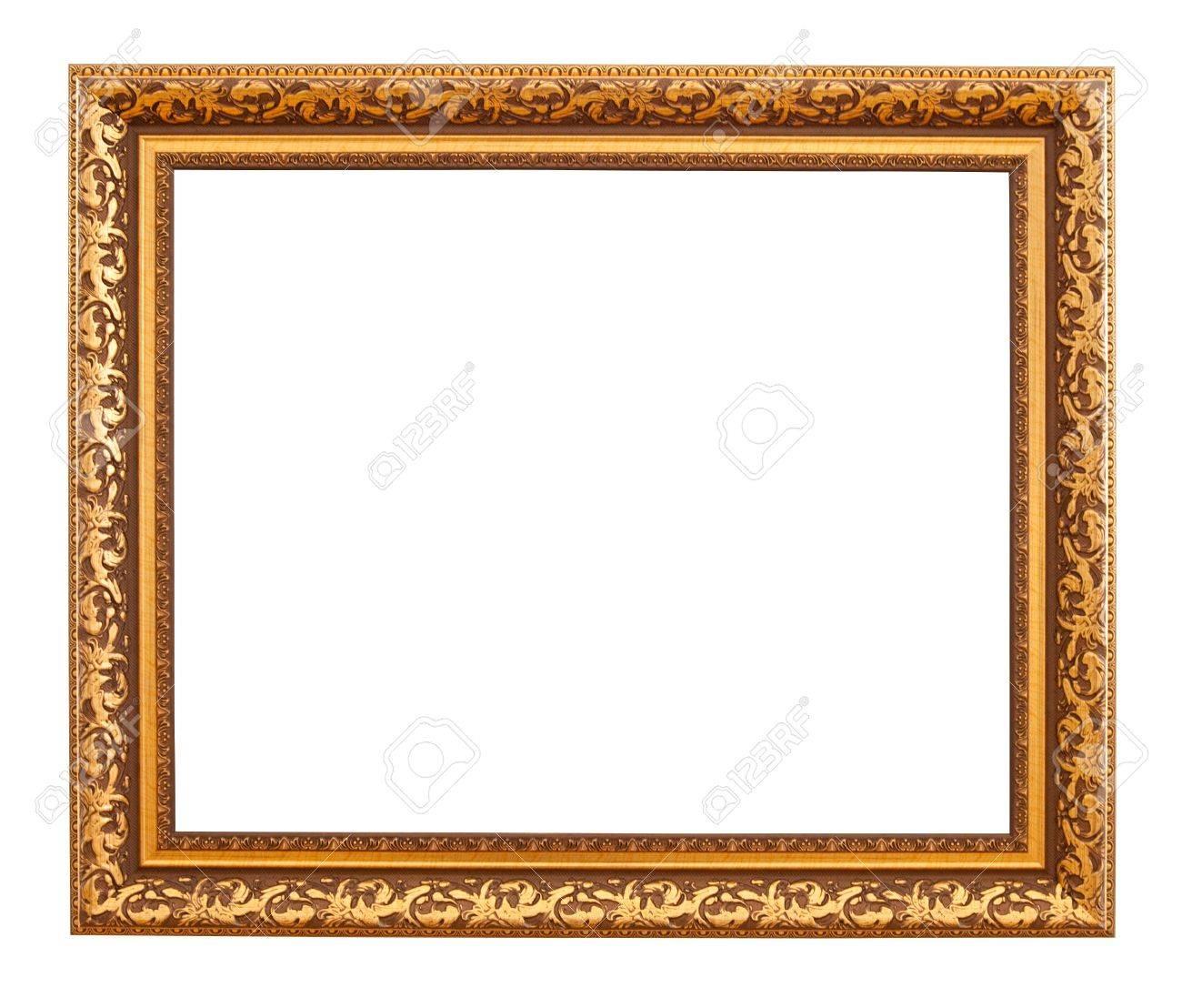 Luxury gold frame. Isolated over white background Stock Photo - 9061430