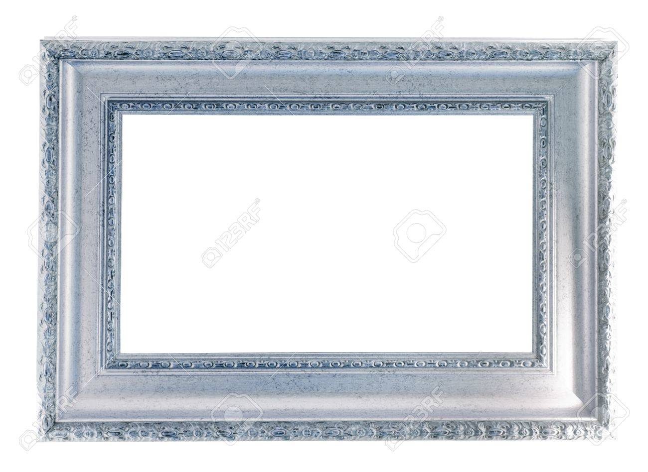 silver frame. Isolated over white background Stock Photo - 9061438