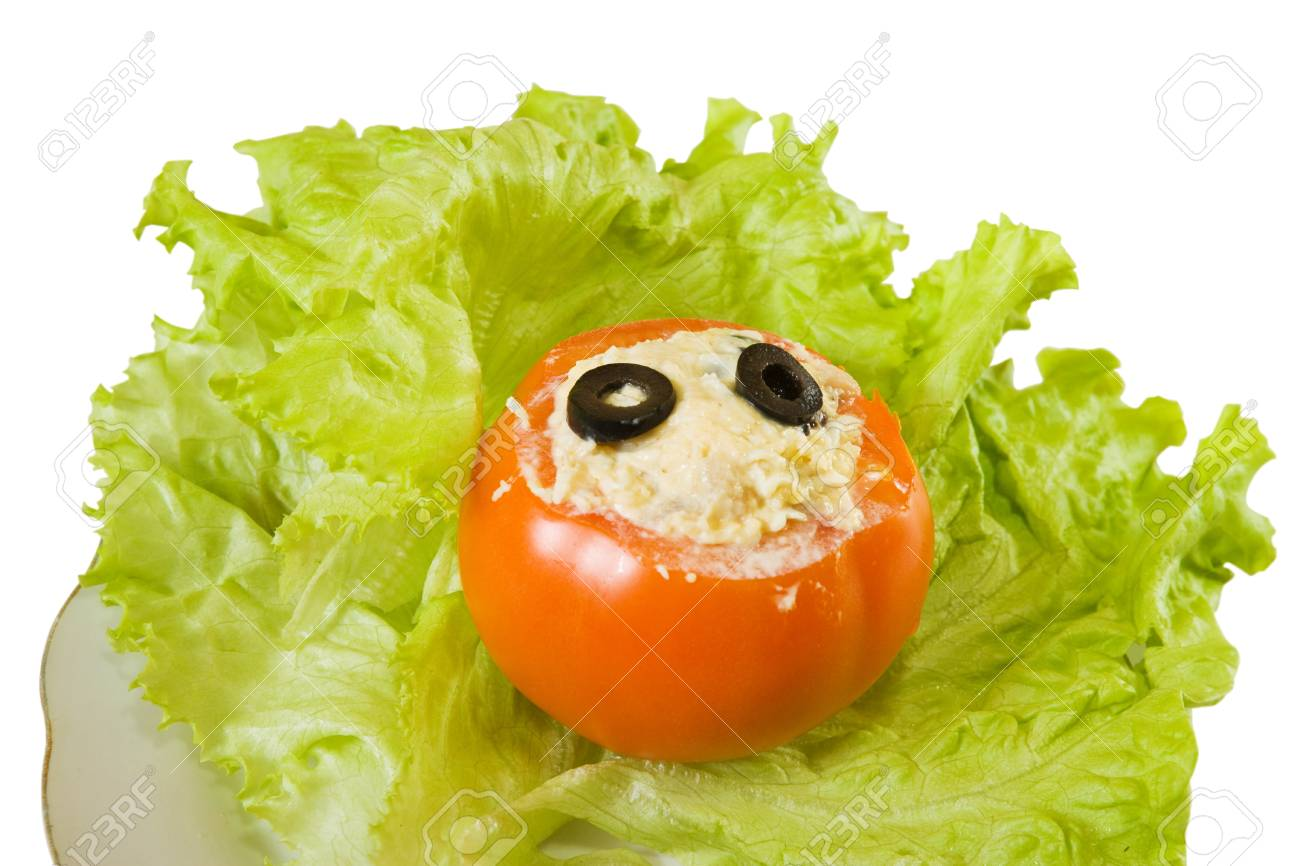 stuffed tomato salad.See in series stages of cooking of stuffed tomato Stock Photo - 9521793