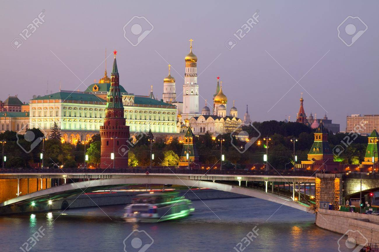 View of Moscow Kremlin in dusk. Russia Stock Photo - 11294701