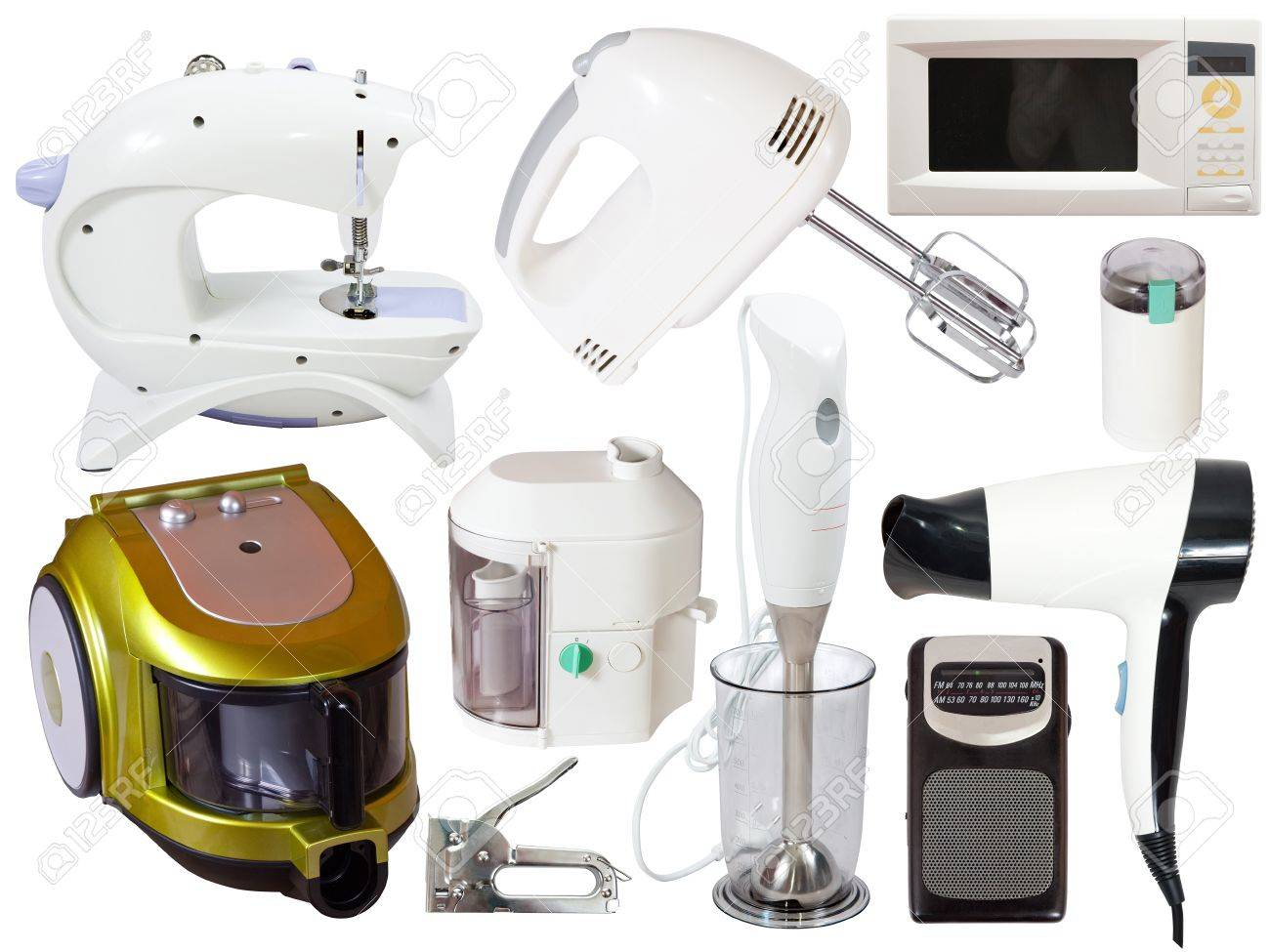 Set of  household appliances. Isolated on white background with clipping path Stock Photo - 11636792