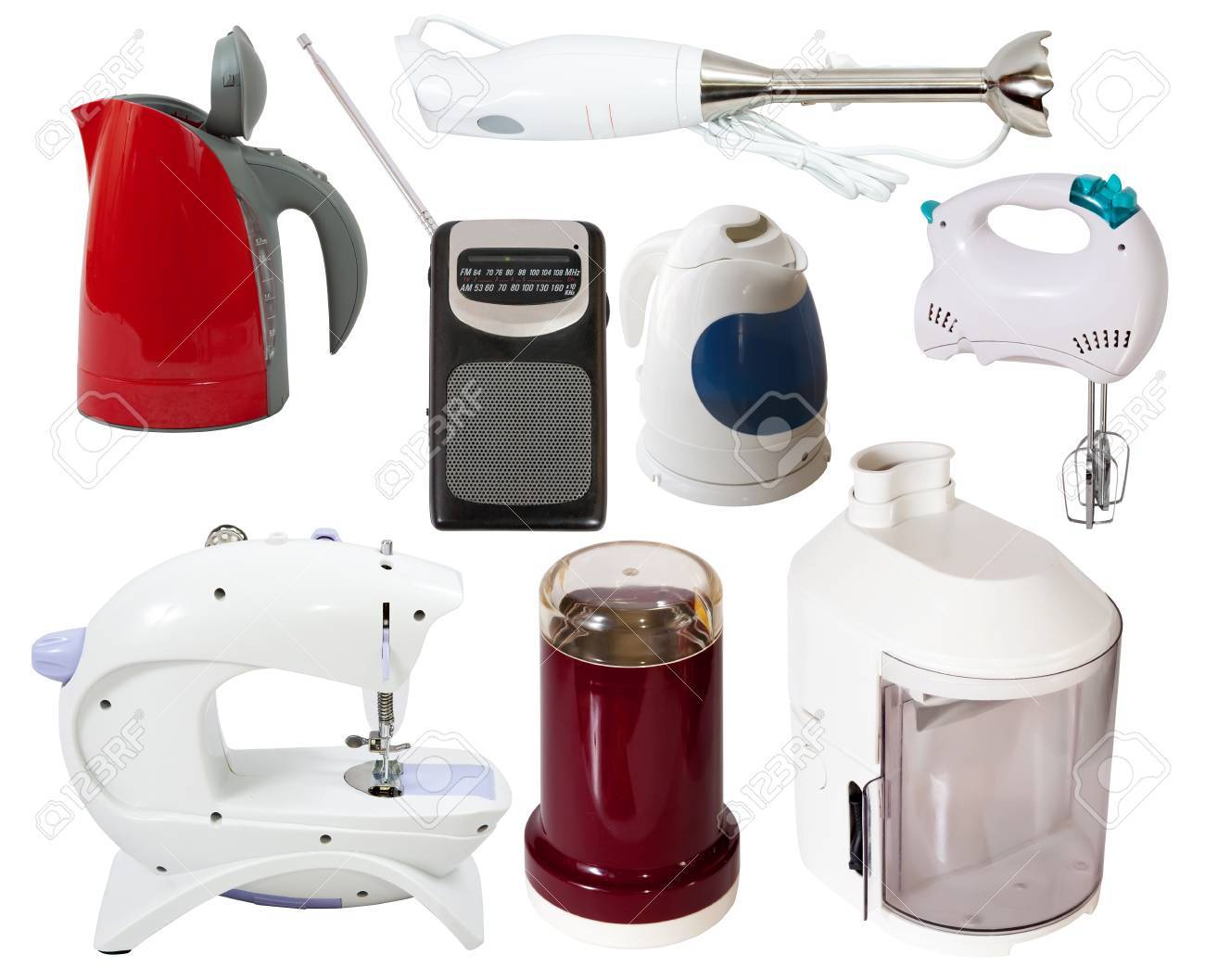 Set of  household appliances. Isolated on white background with clipping path Stock Photo - 12612825