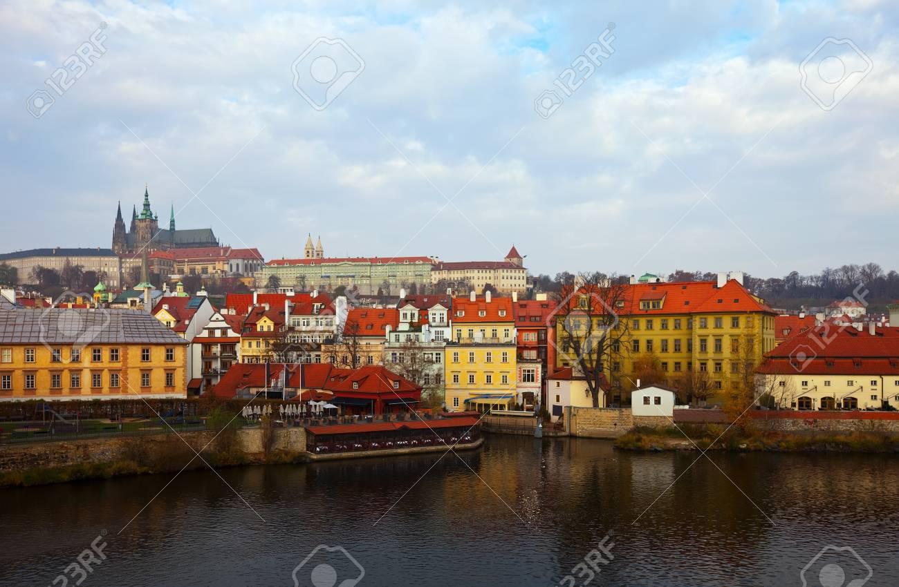Morning view of Prague from Vltava. Czech Republic  Stock Photo - 12591508